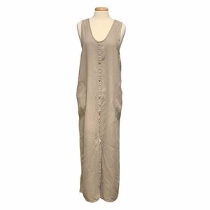 Flax by Jeanne Engelhart buttoned front Midi Dress